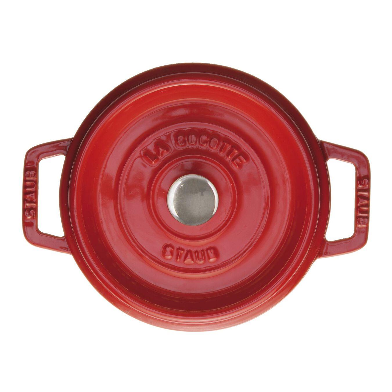 Caçarola 18 cm, redondo, cereja, Ferro fundido,,large 1