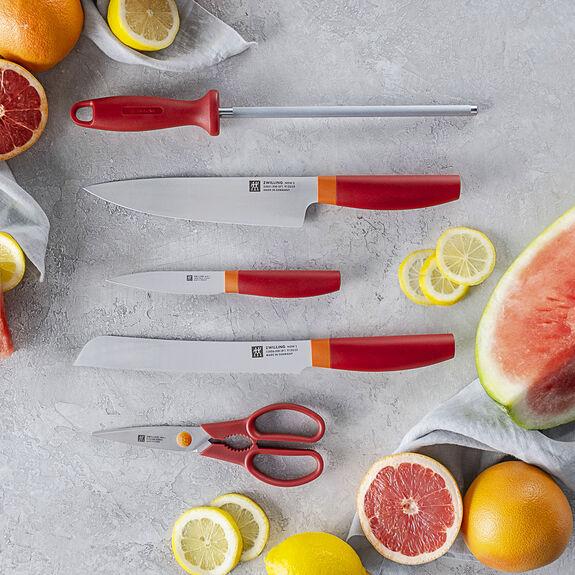 6-pc Knife Block Set - Granada Orange,,large 2