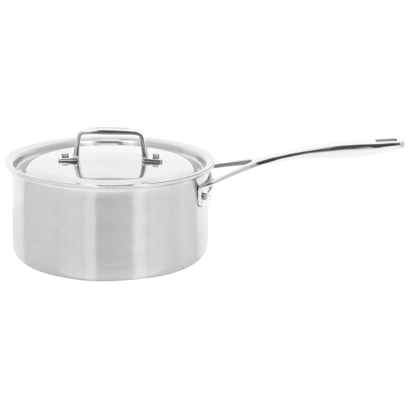 2.8 l round sauce pan with lid 3QT, silver,,large 1