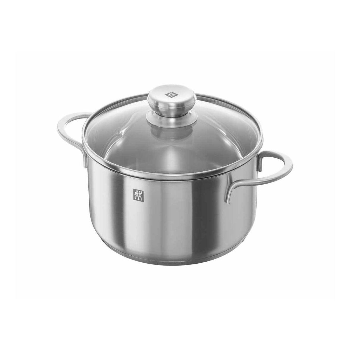8-pcs 18/10 Stainless Steel Ensemble de casseroles et poêles,,large 2