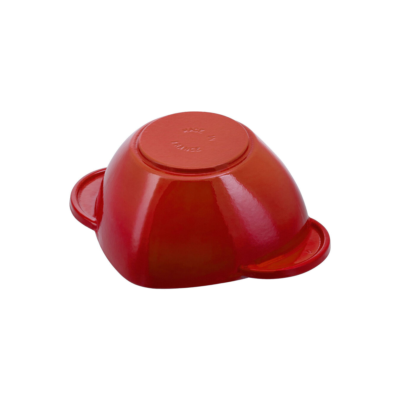 Cocotte 20 cm, Herz, Kirsch-Rot, Gusseisen,,large 4