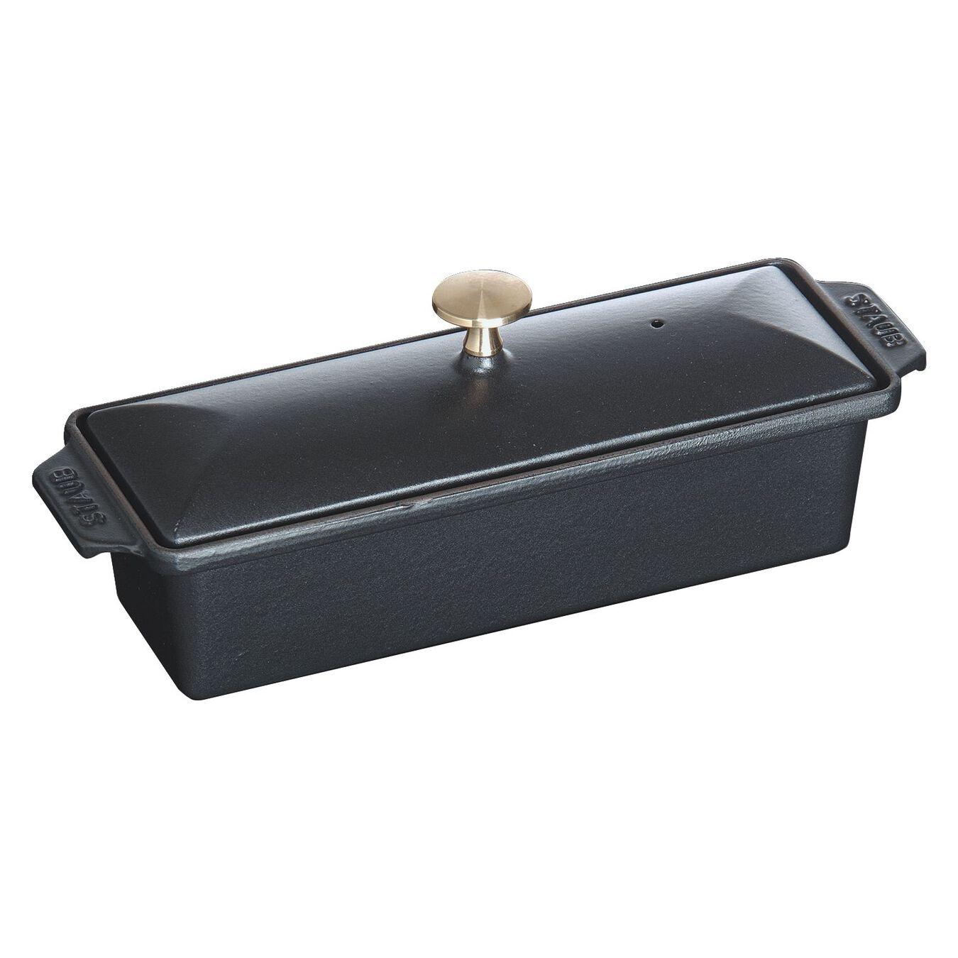 Cast iron rectangular Terrine, Black,,large 1