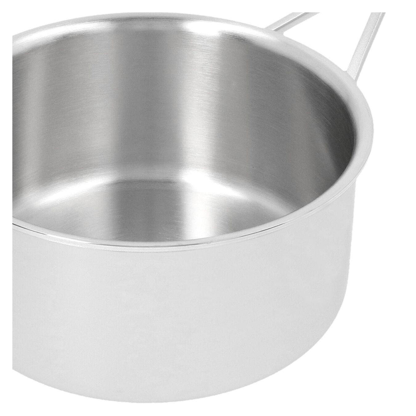 Stieltopf ohne Deckel 18 cm, 18/10 Edelstahl, Silber,,large 5