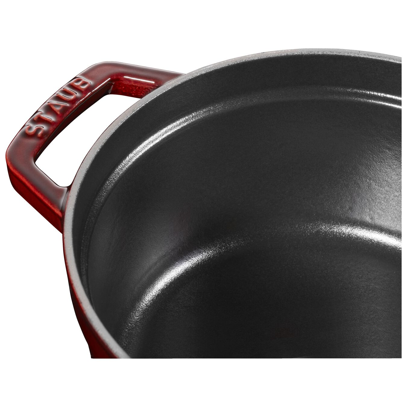 2.25 l Cast iron round Cocotte, grenadine-red,,large 4