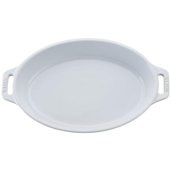 9-inch Oval Baking Dish, White, , large 2