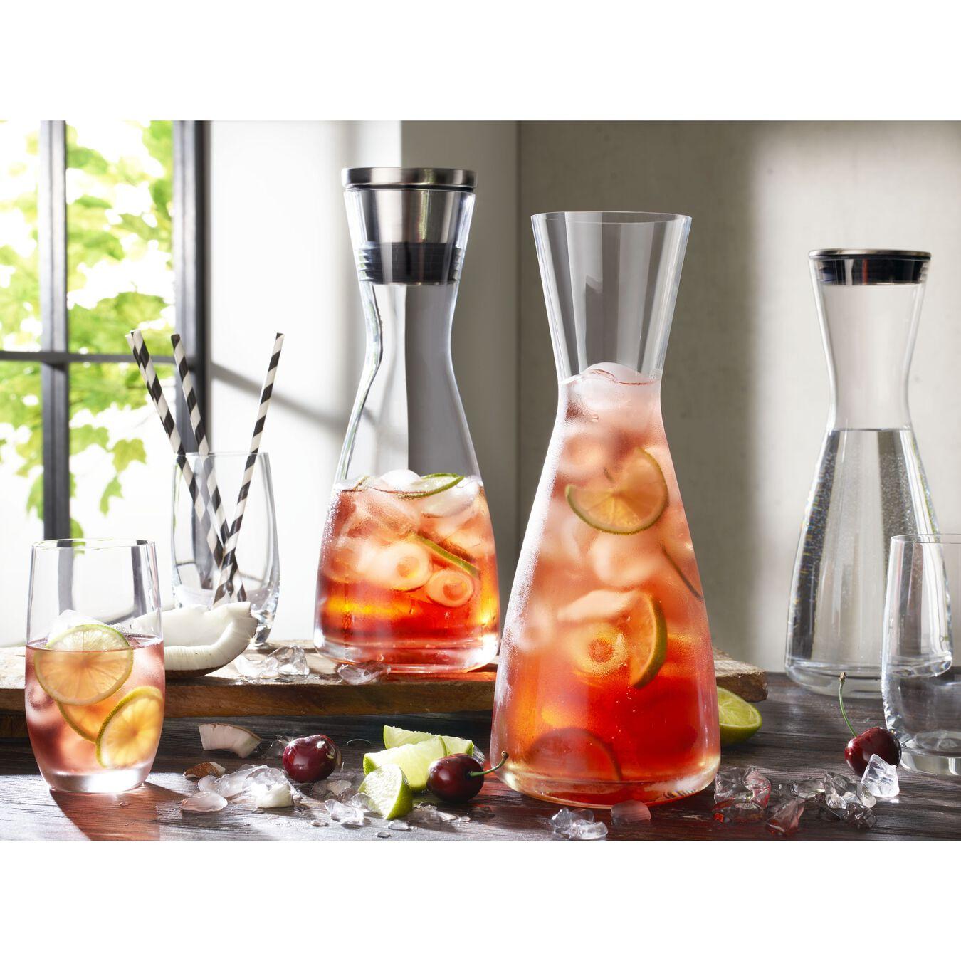 Glaskaraffe mit Ausgießdeckel 1 l, Cristallinglas,,large 3