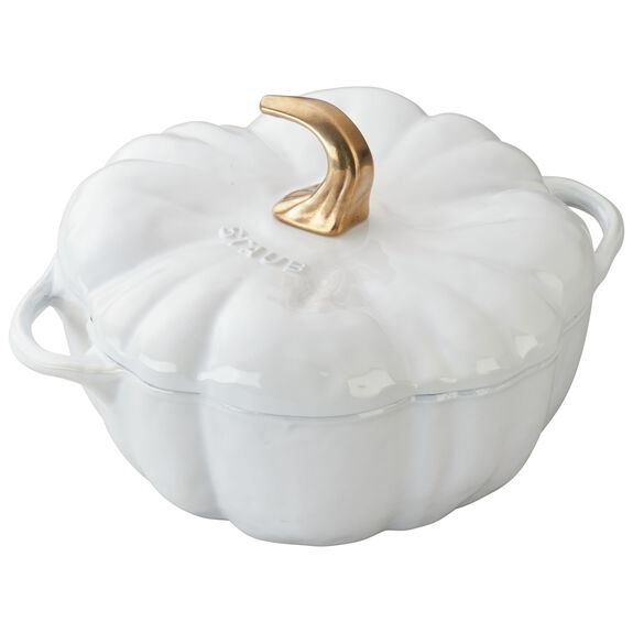 3.65-qt Pumpkin Cocotte, White,,large 11