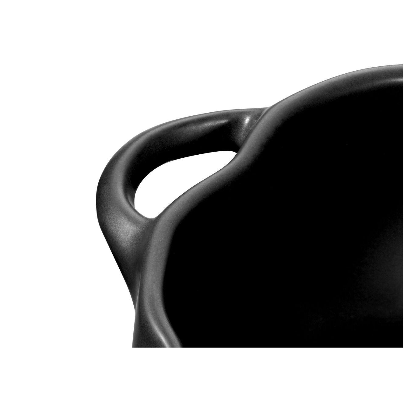Cocotte 15 cm, Kürbis, Schwarz, Keramik,,large 3