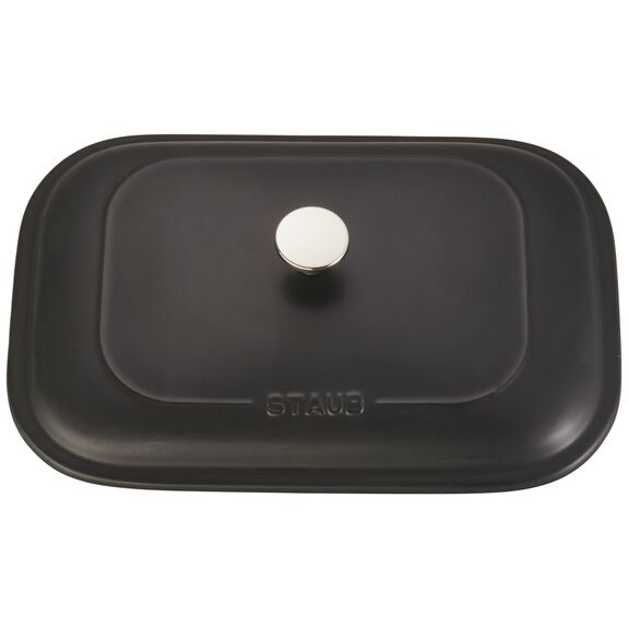 Ceramic Rectangular Covered Baking Dish, Black,,large 4
