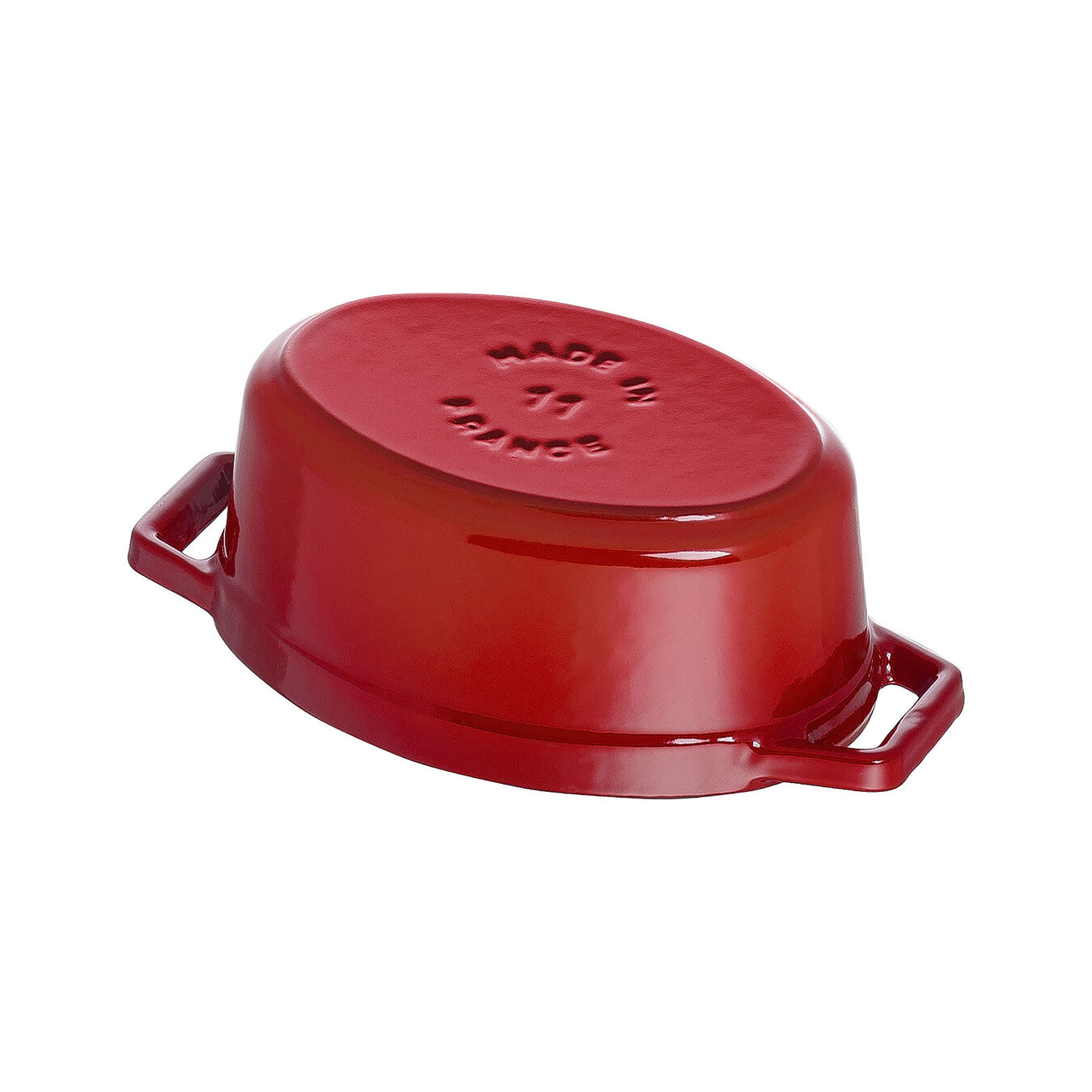 250 ml Cast iron oval Mini Cocotte, Cherry,,large 4