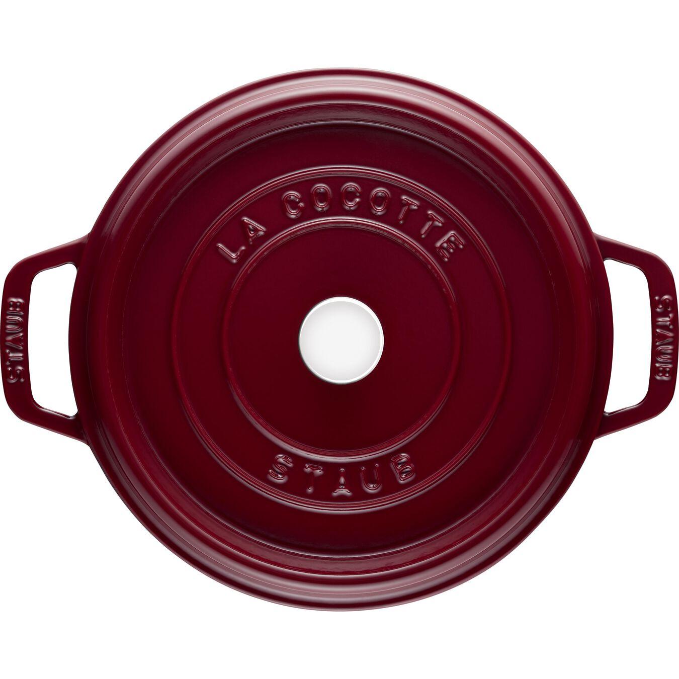 Cocotte 24 cm, rund, Bordeaux, Gusseisen,,large 3