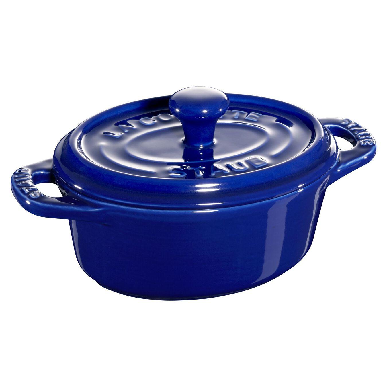 Mini seramik kap, 11 cm   Koyu Mavi   Oval   Seramik,,large 1