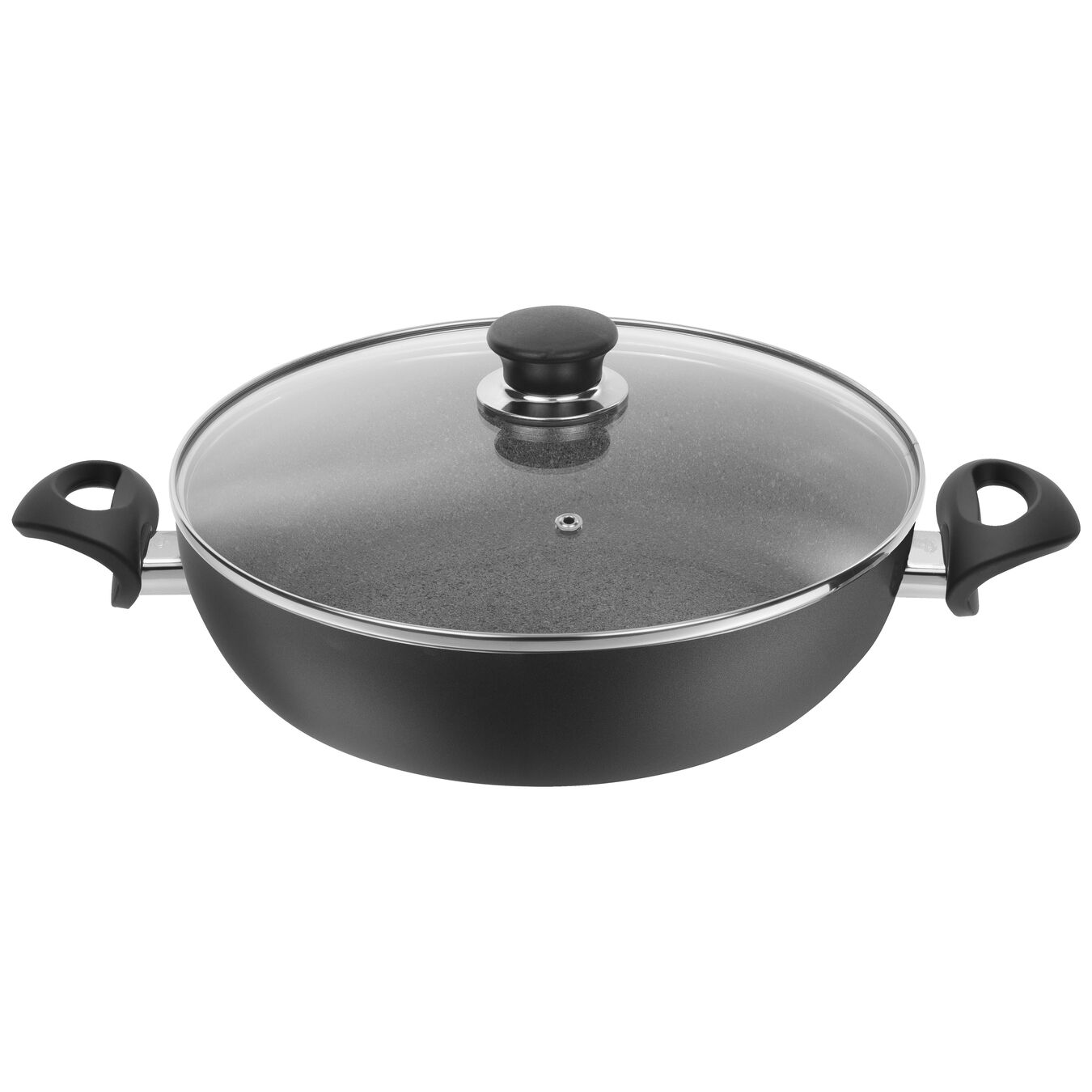 0,1 ml Aluminum round Sauteuse with lid, Grey,,large 1
