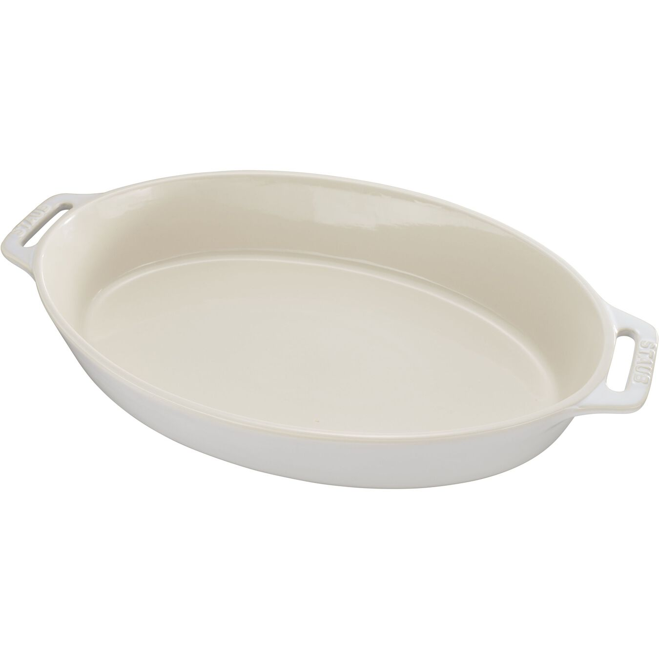 9-inch, oval, Oven dish, ivory-white,,large 1