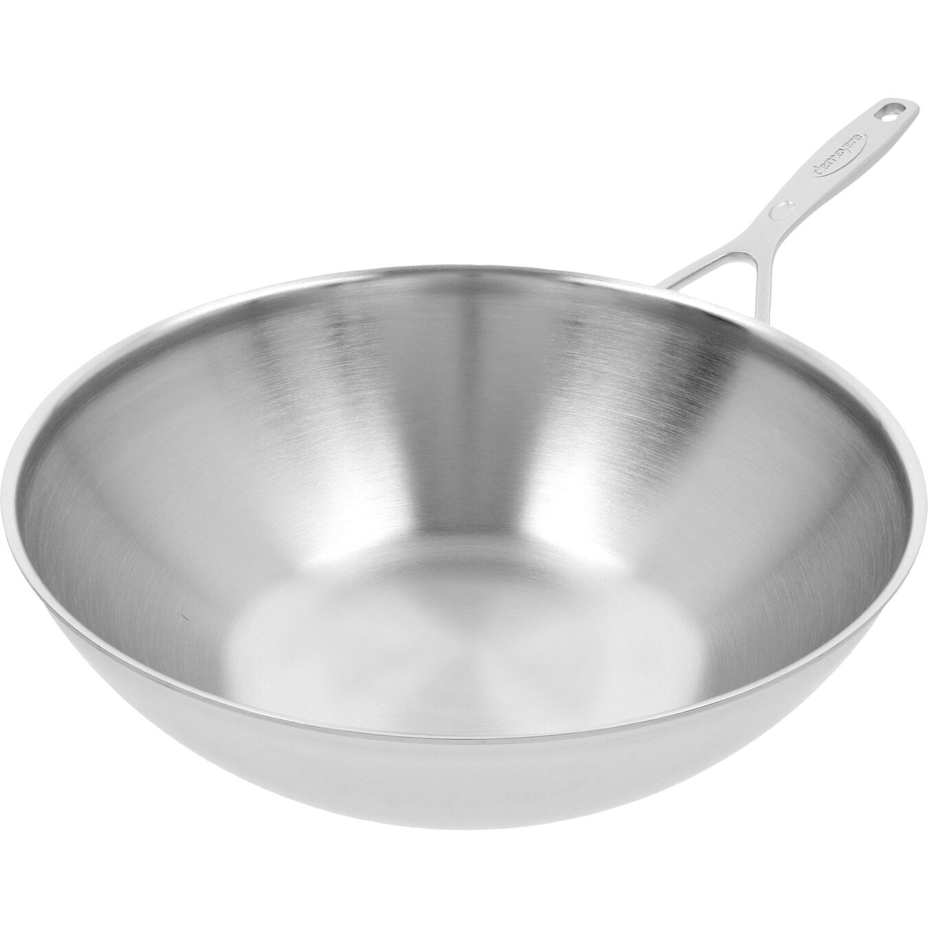 5 qt, 18/10 Stainless Steel, Flat Bottom Wok, silver,,large 4