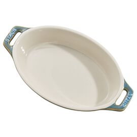 Staub Ceramics, 6.5-inch Oval Baking Dish - Rustic Turquoise