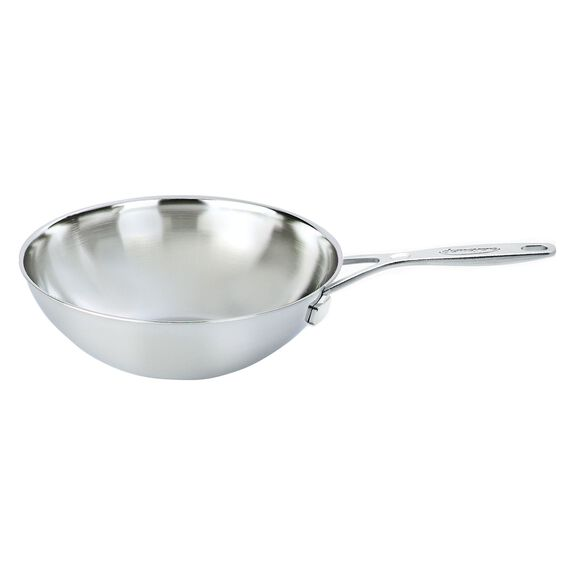 30-cm-/-12-inch  Wok without lid, Silver,,large