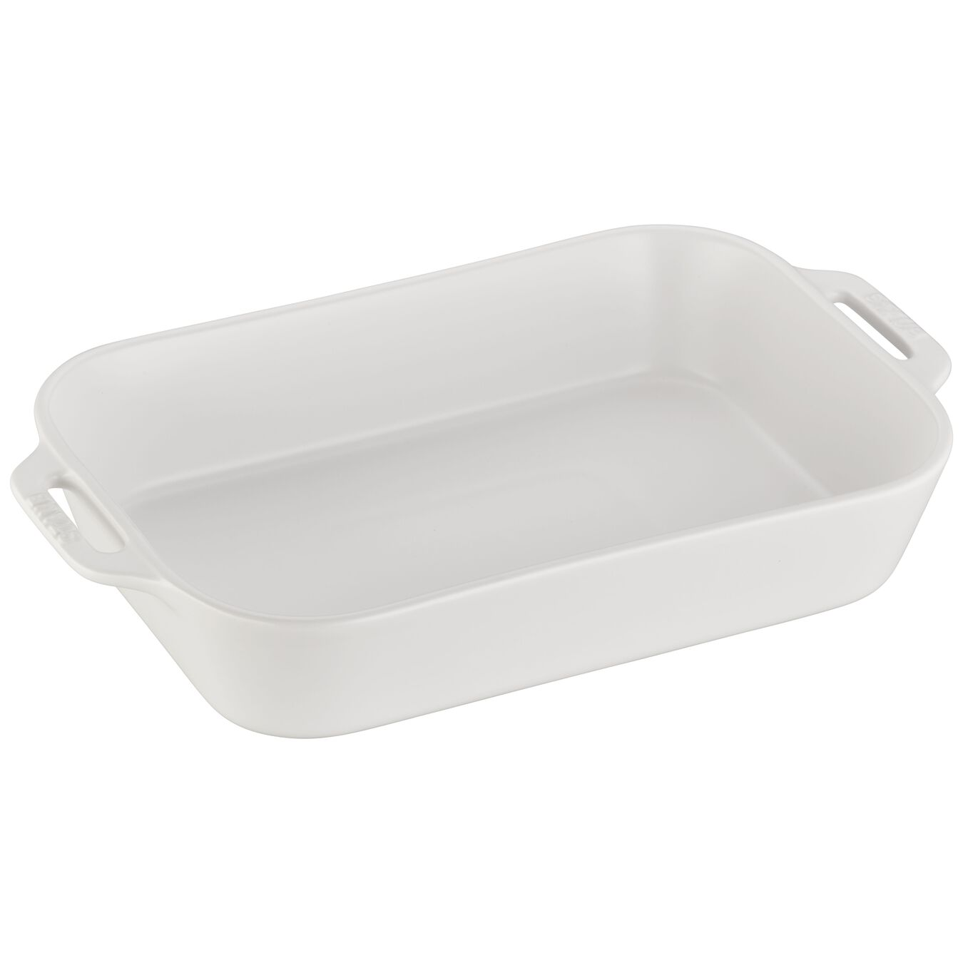 9.5-inch, rectangular, Oven dish, matte white,,large 1