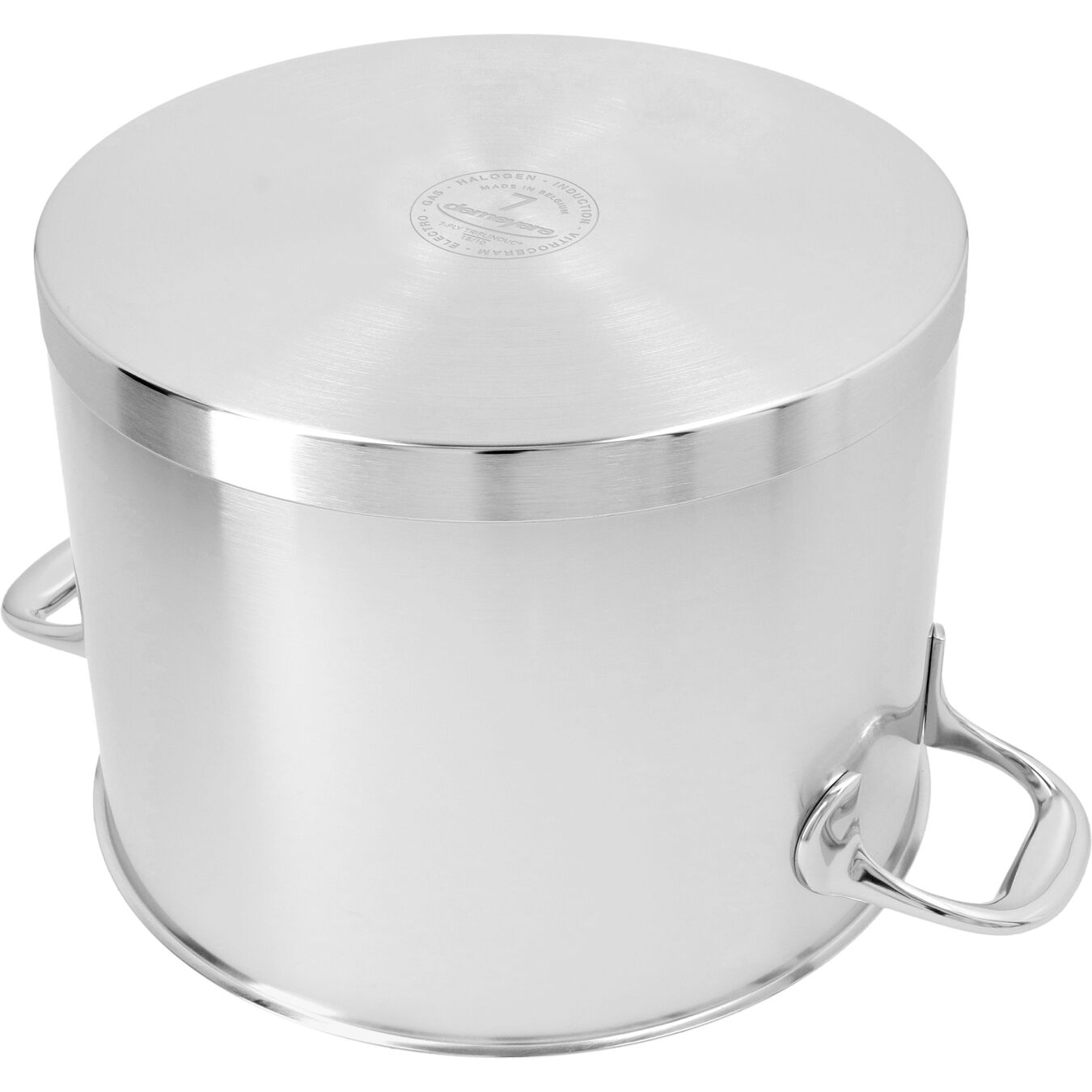 8.5 qt Stock pot with lid, 18/10 Stainless Steel ,,large 5
