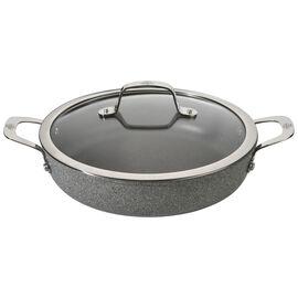 BALLARINI Salina, Tegame con coperchio - 28 cm, alluminio, Granitium Titanium Extreme
