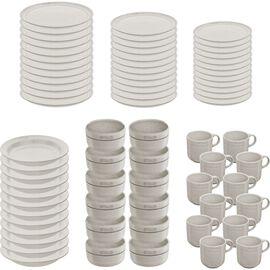 Staub Dining Line, Serving set, 72 Piece | White Truffle | Ceramic | Ceramic