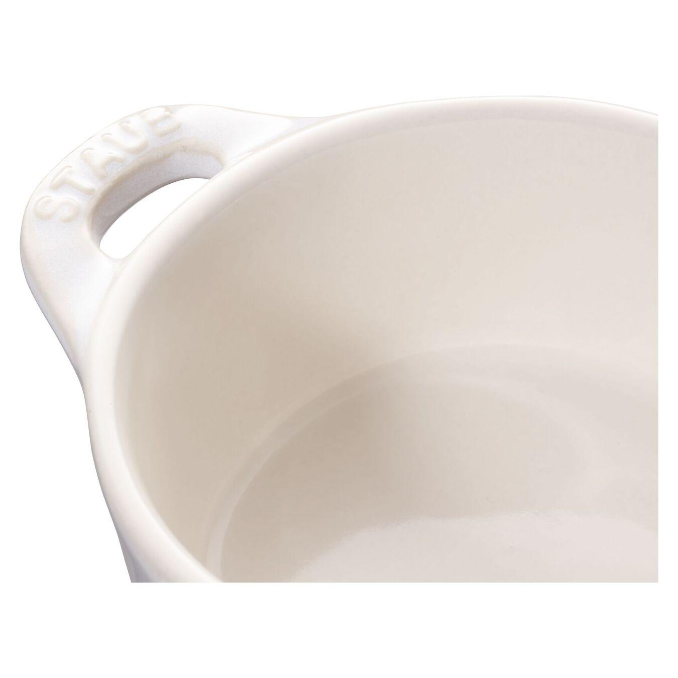 Mini Cocotte 10 cm, rund, Elfenbein-Weiß, Keramik,,large 6