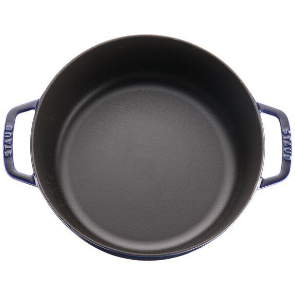 6-qt round Cocotte, Dark Blue,,large 3