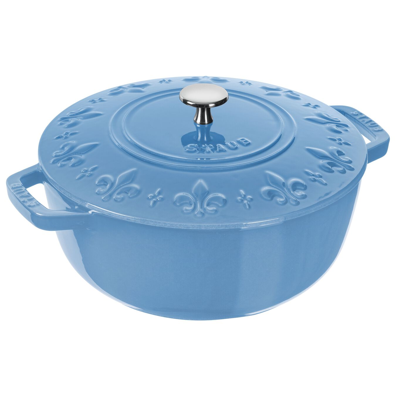 3.75-qt round French oven, Ice-Blue,,large 1