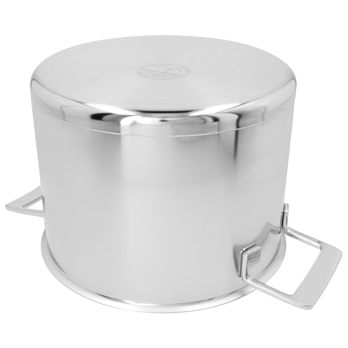 8 qt Stock pot with double walled lid, 18/10 Stainless Steel ,,large 1