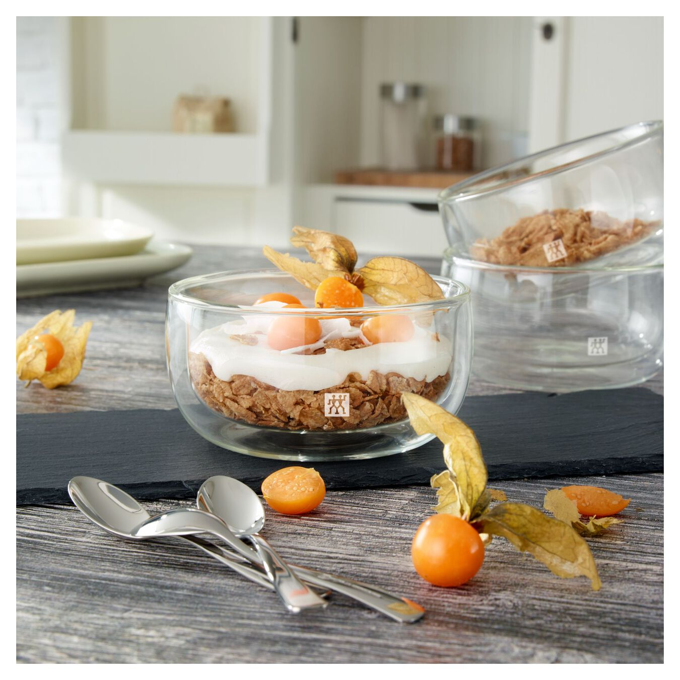 2 Piece Double-Wall Glass Bowl Set,,large 3