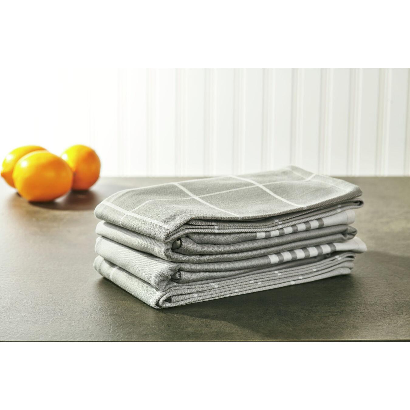Kitchen towel, grey,,large 5