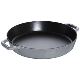Staub Cast iron, 34 cm Cast iron Paella pan, Graphite-Grey