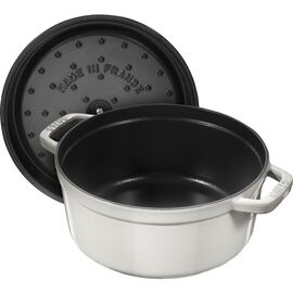 Staub La Cocotte, Poêle à frire en fonte 24 cm / 3,8 l, Rond, Blanc truffe