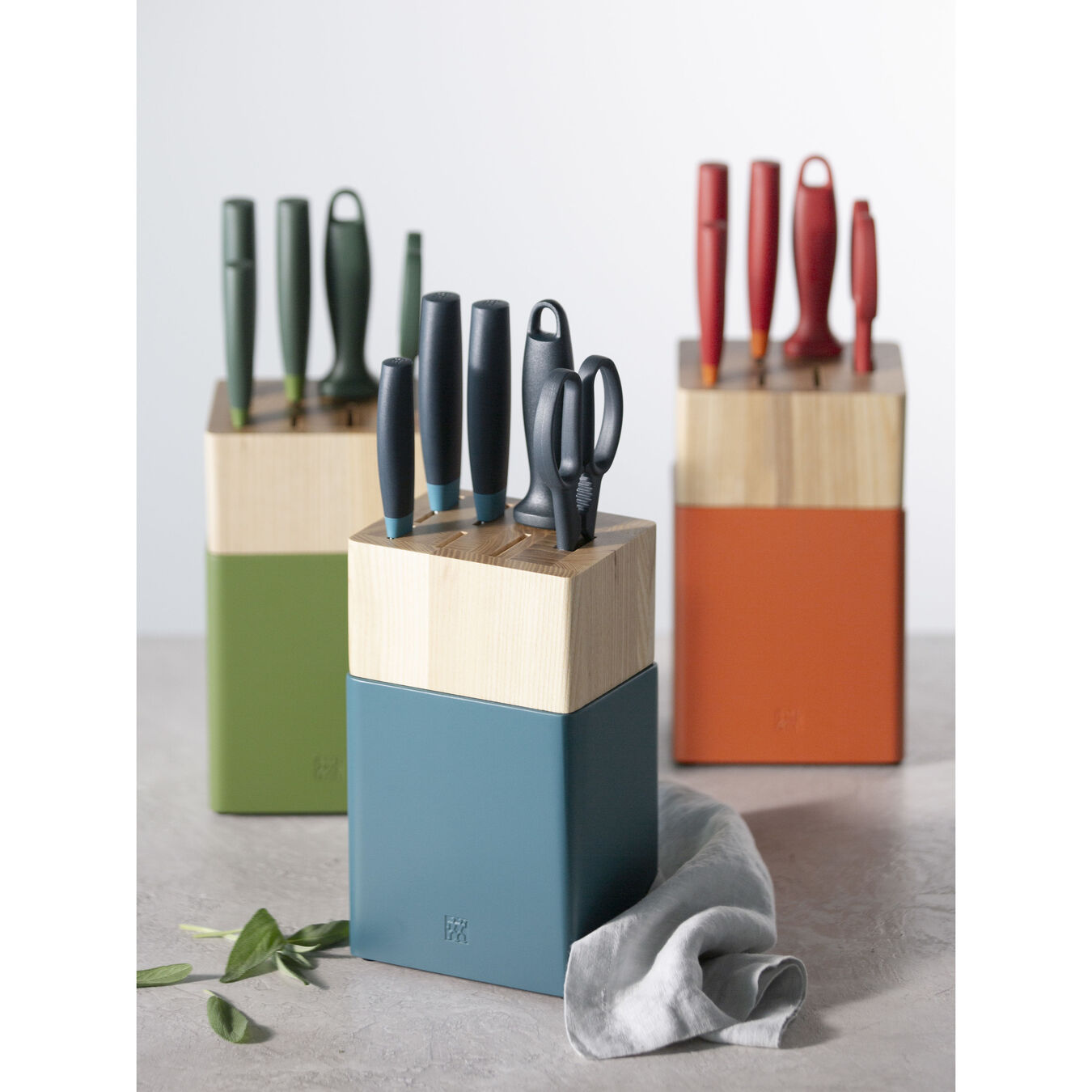 8-pc Knife Block Set - Blueberry Blue,,large 5