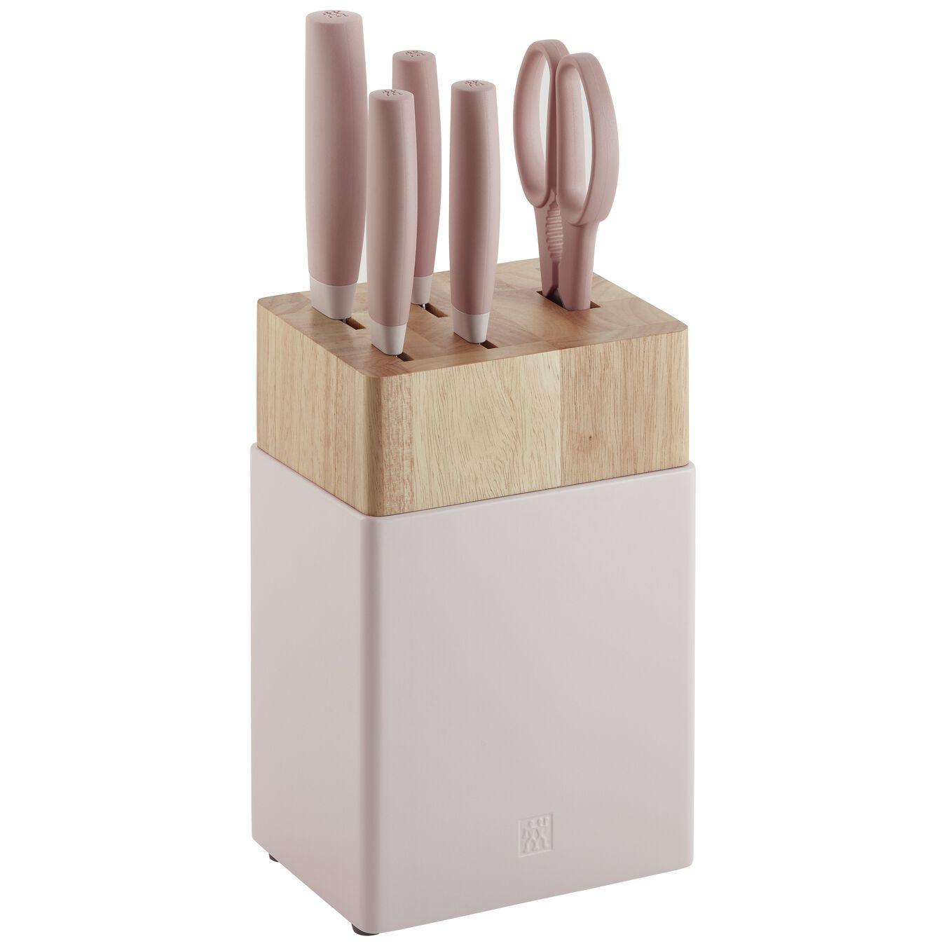 Set di coltelli con ceppo - 6-pz., rosa,,large 1