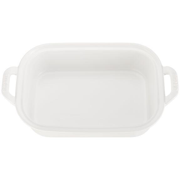 """12"""" x 8"""" Rectangular Covered Baking Dish, Matte White, , large 2"""