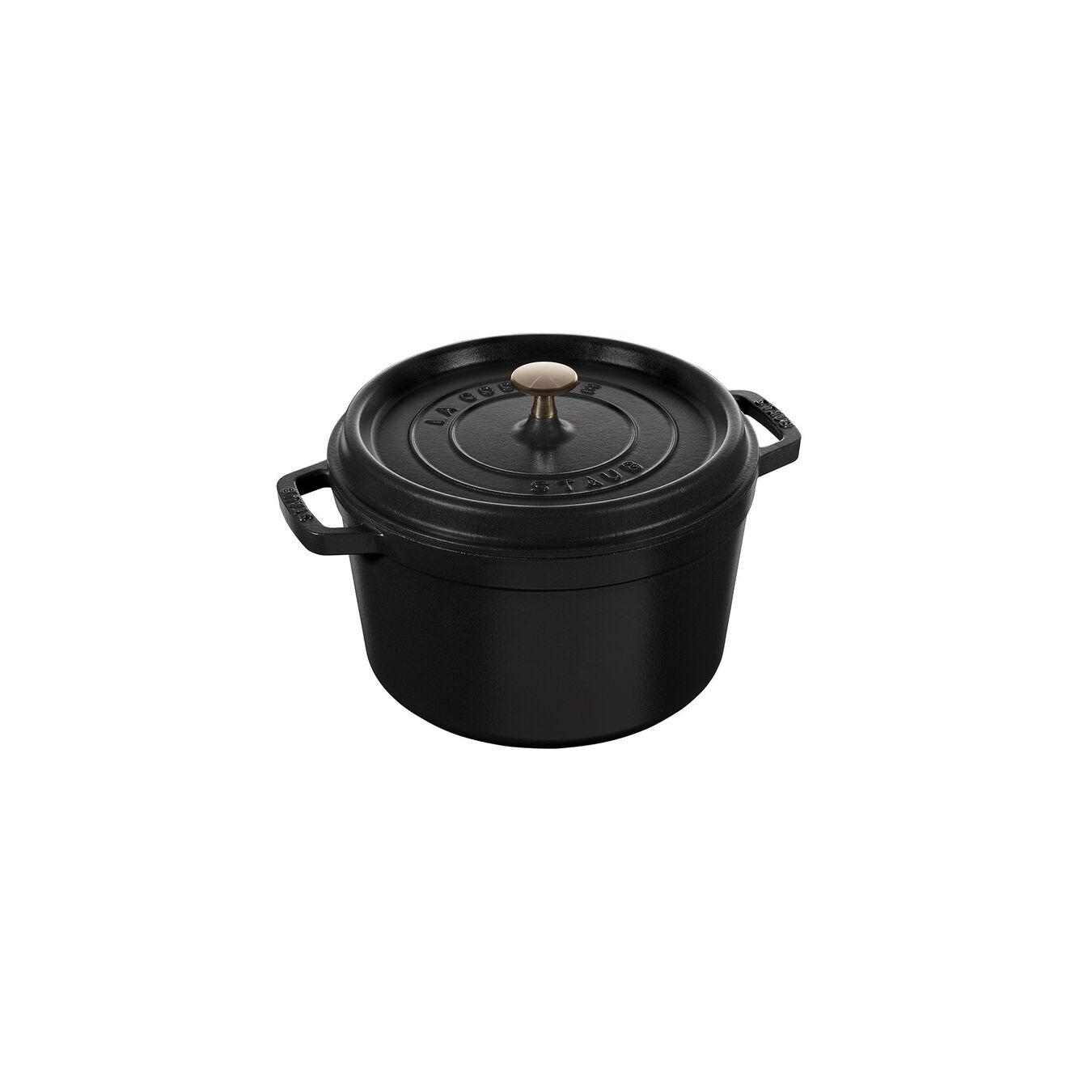 Cocotte 24 cm, Rond(e), Noir, Fonte,,large 8