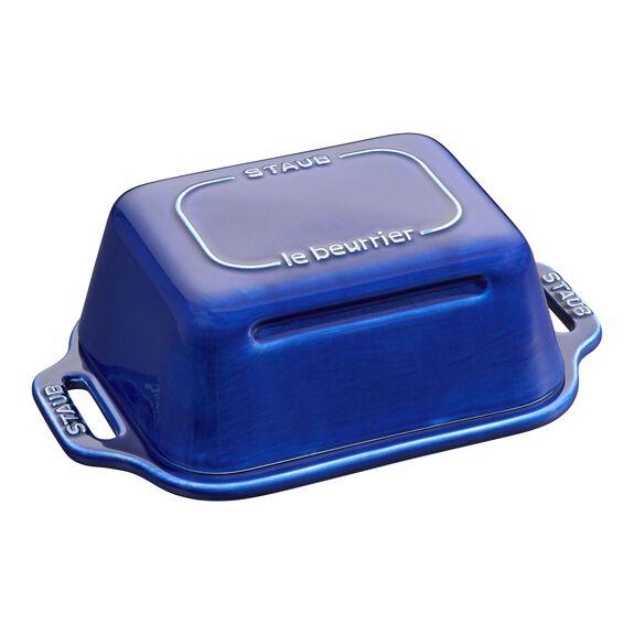 Terayağ Saklama Kabı, 19 cm x 12 cm | Koyu Mavi | Seramik | Kare,,large