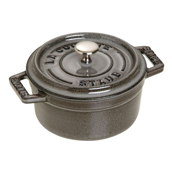 4-inch round Mini Cocotte, Grey,,large
