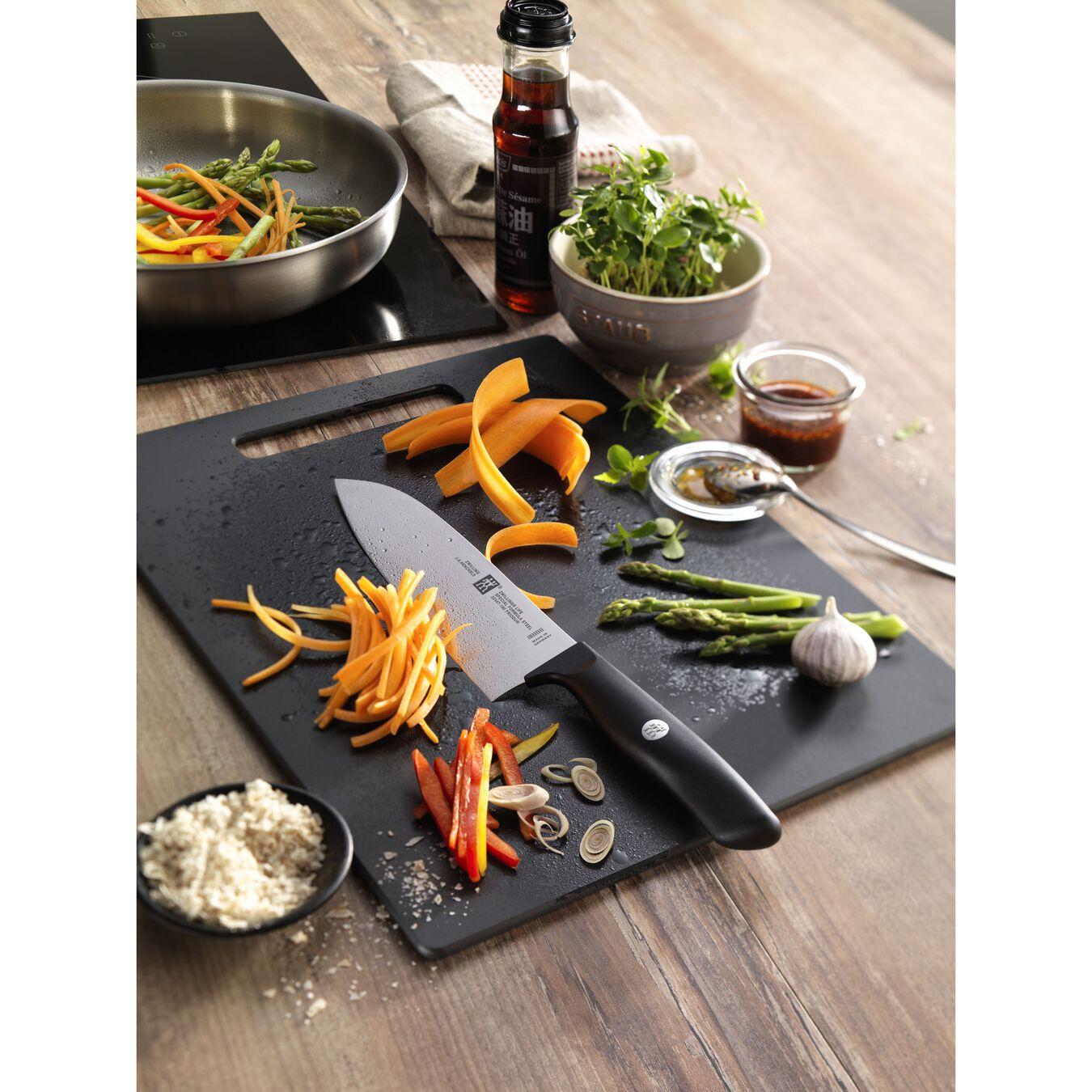 Couteau à légumes 8 cm, Noir, Plastique,,large 4
