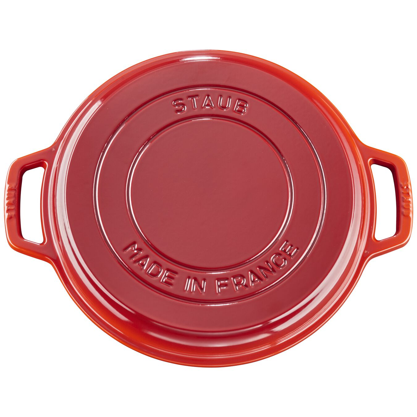 6 l Cast iron round Braise + Grill, Cherry - Visual Imperfections,,large 6