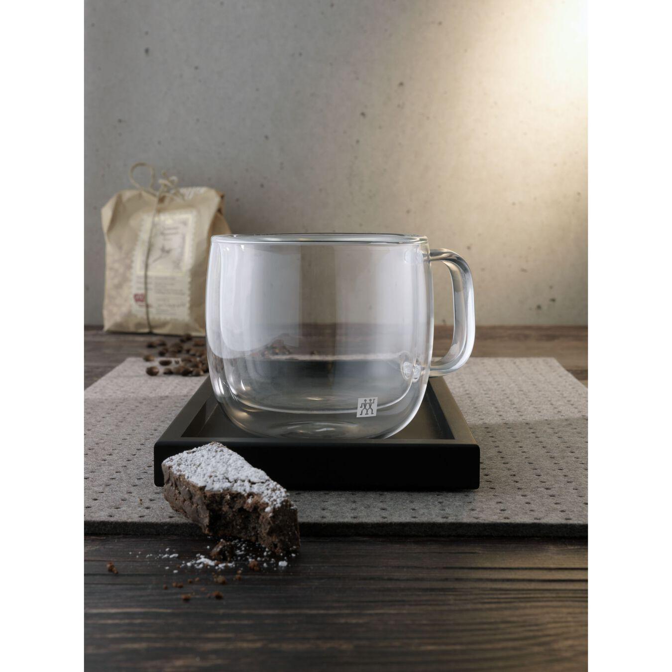 Set di bicchieri da cappuccino - 2-pz., vetro borosilicato,,large 4