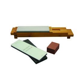 6-pc Glass Water Stone Sharpening Set