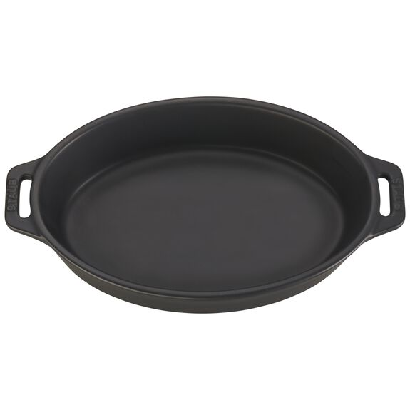 9-inch Oval Baking Dish - Matte Black,,large 2