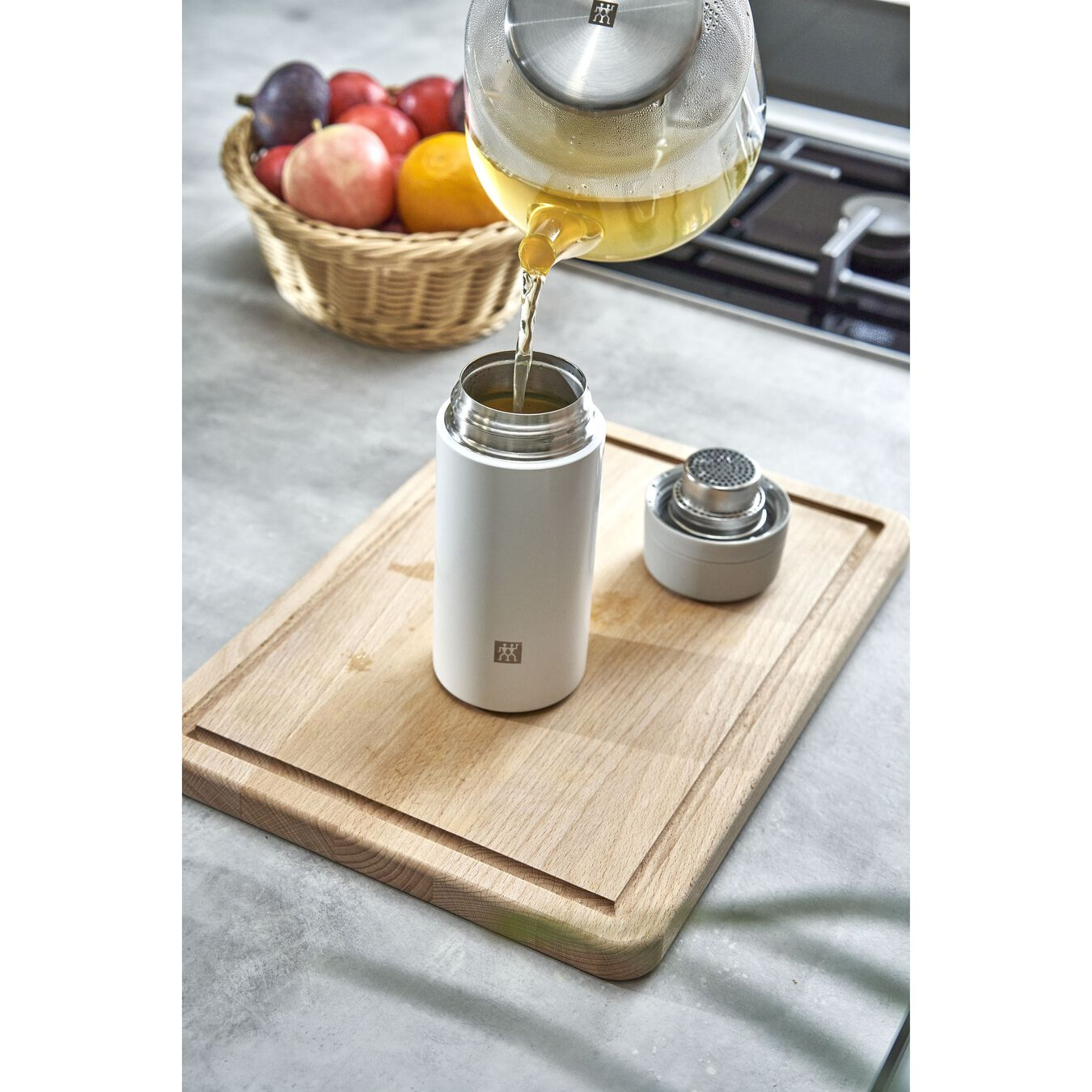 Thermosfles, 420 ml | Roestvrij staal | Wit-Grijs,,large 9