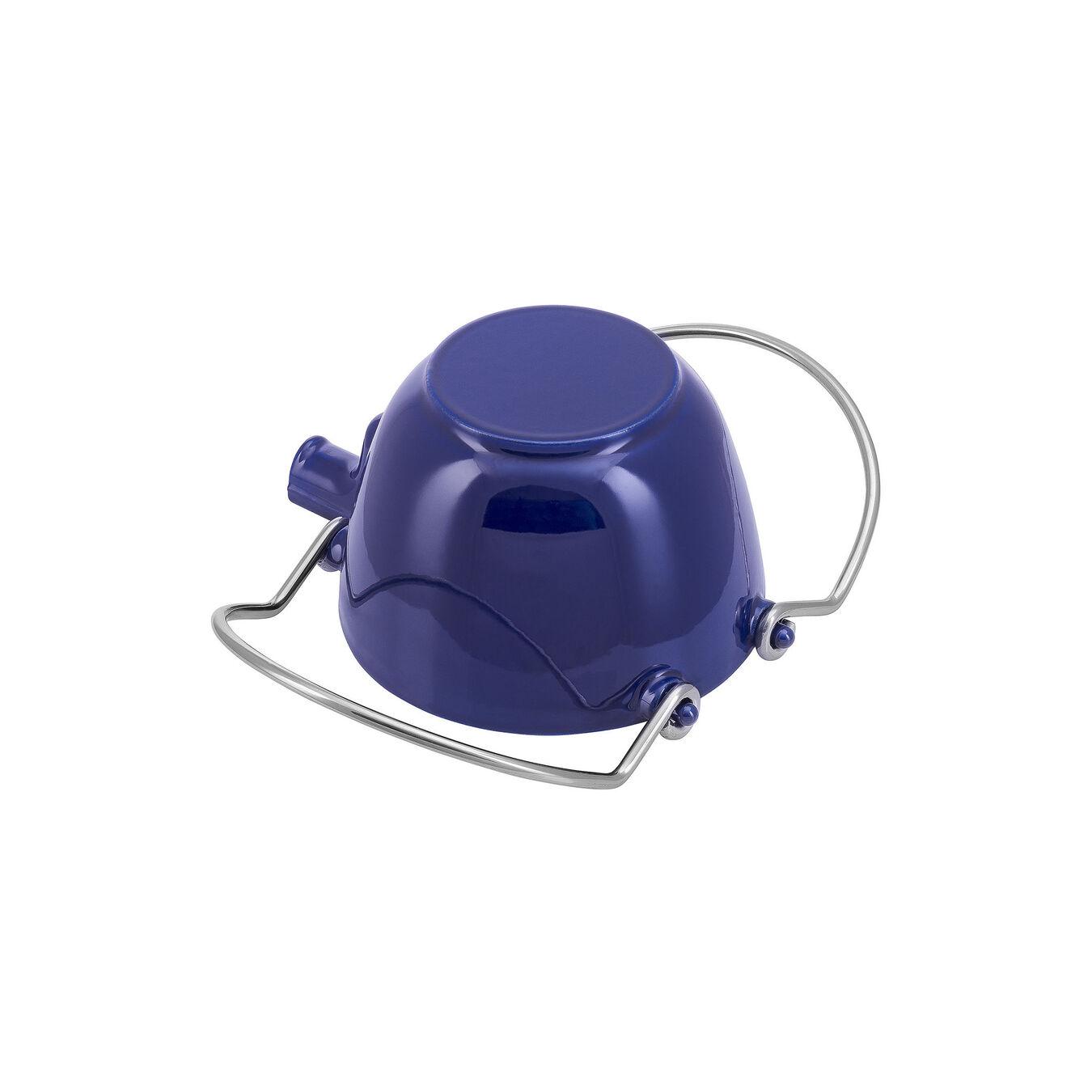 1.25 qt, round, Tea pot, dark blue,,large 3