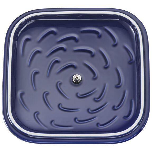 Ceramic Square Covered Baking Dish, Dark Blue,,large 6
