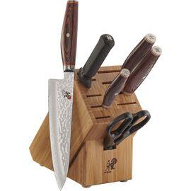 MIYABI Artisan, 7-pc, Knife block set, brown