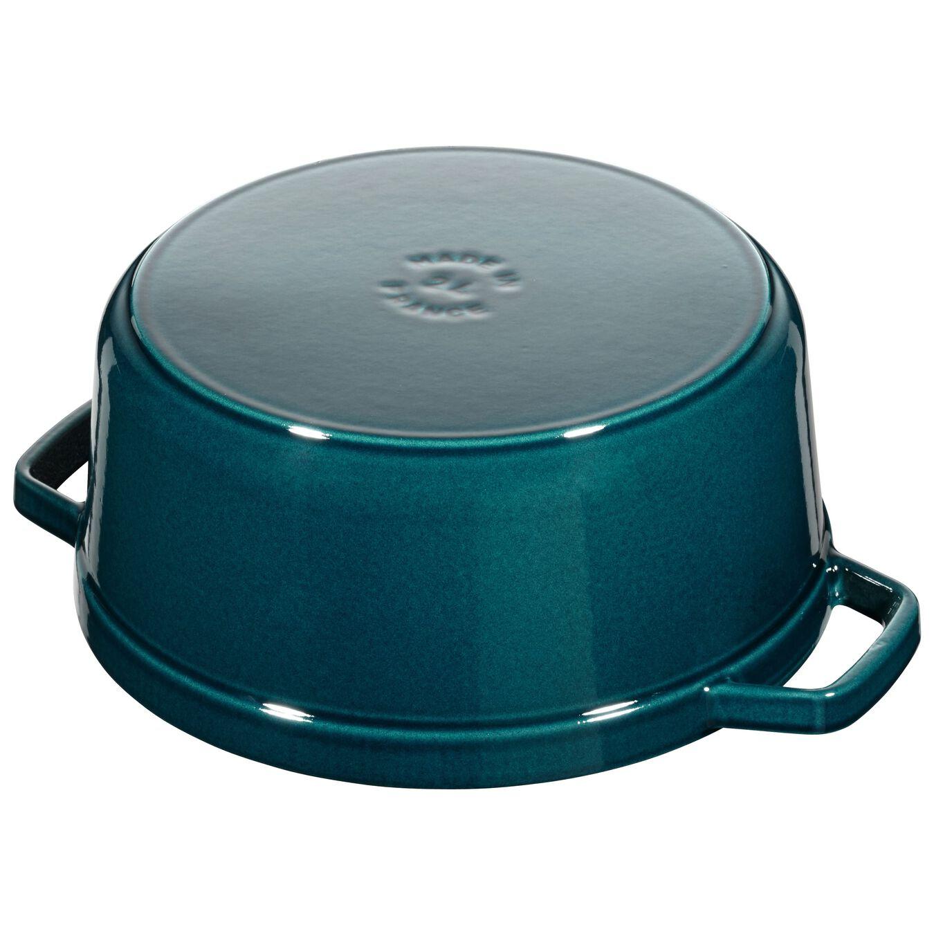 Cocotte en fonte 24 cm / 3,8 l, Rond, Blue La-Mer,,large 3