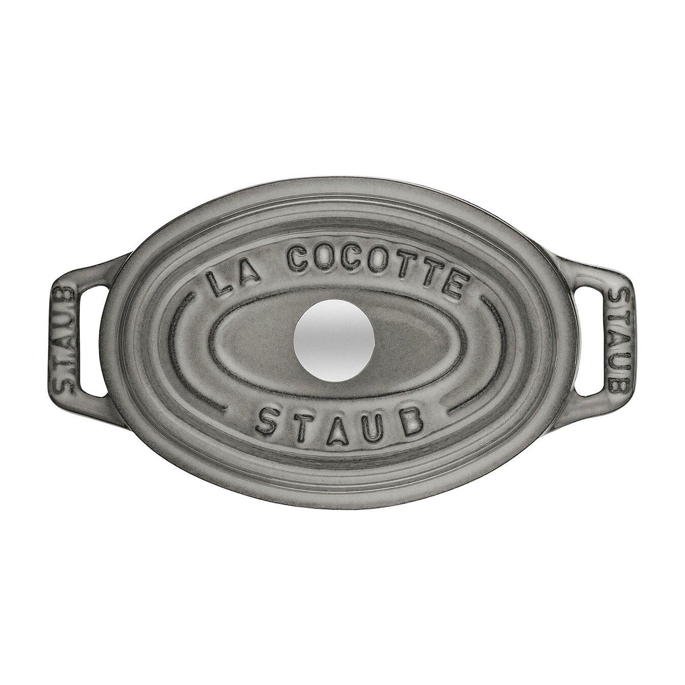 Mini Cocotte 11 cm, oval, Graphit-Grau, Gusseisen,,large 2